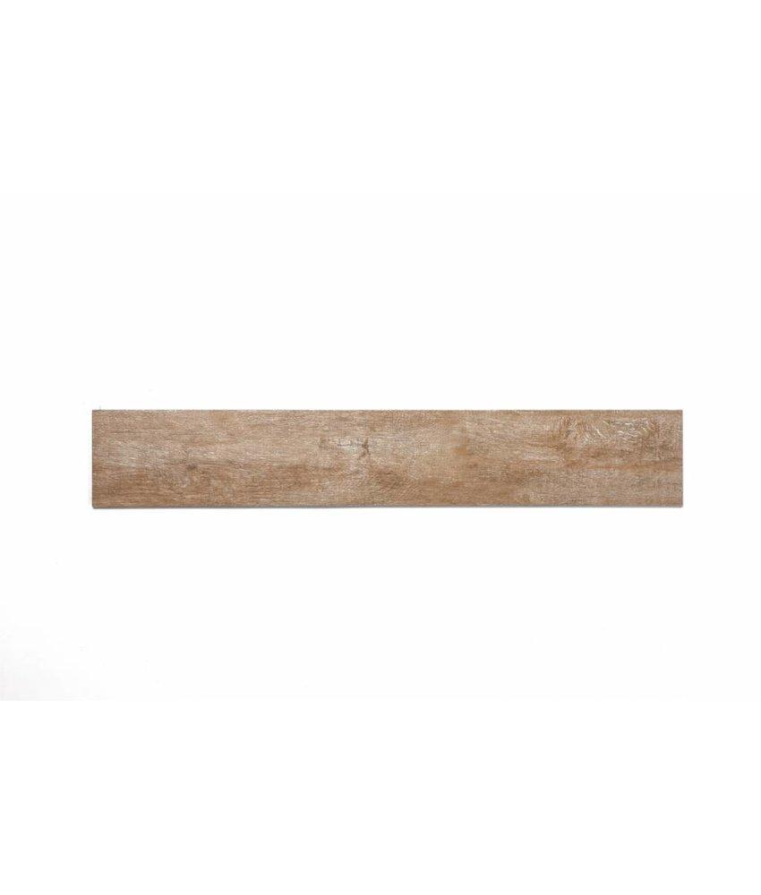 Feinsteinzeug glasiert und eingefärbt - CARLOW Holzoptik beige - 15x90 cm