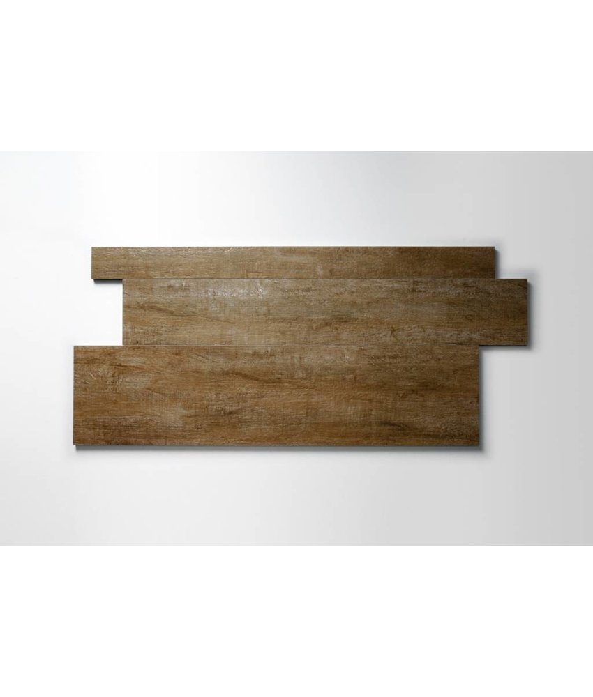 Feinsteinzeug glasiert und eingefärbt - CARLOW Holzoptik beige Format Mix - 7,3+14,8+22,3x90 cm