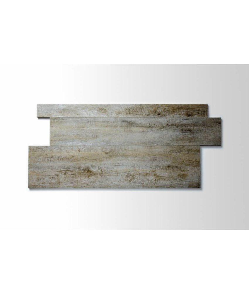 Feinsteinzeug glasiert und eingefärbt - BALLYLOW Holzoptik hellbeige-grau Format Mix - 7,3+14,8+22,3x90 cm