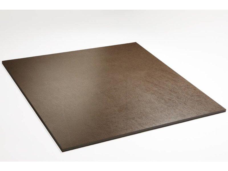 Feinsteinzeug glasiert und eingefärbt - PASCAL braun - 60x60 cm