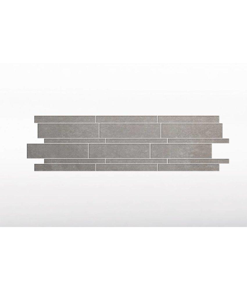 Feinsteinzeug glasiert und eingefärbt Format Mix - BROOKLYN Zementoptik grey - 4,8+9,8+14,8x60 cm