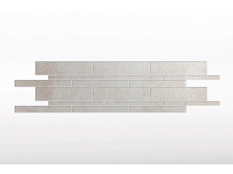 Feinsteinzeug glasiert und eingefärbt Format Mix - BROOKLYN Zementoptik ivory - 4,8+9,8+14,8x60 cm