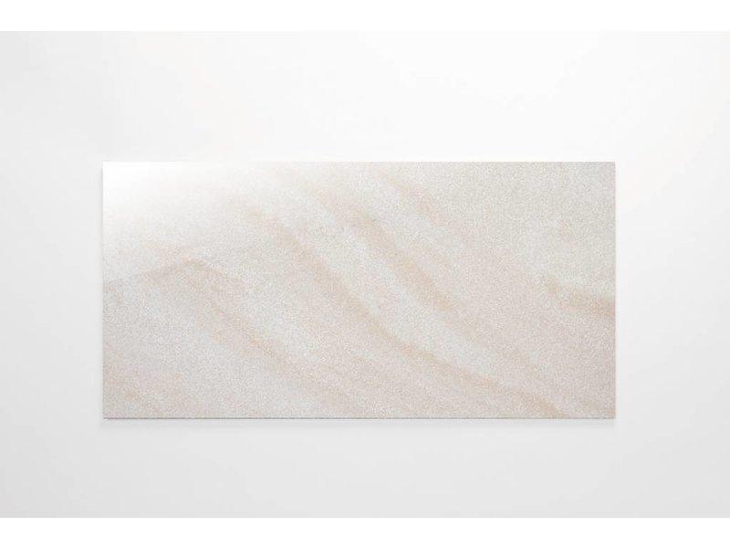 Feinsteinzeug Double Loading- Chroma elfenbein poliert - 30x60 cm