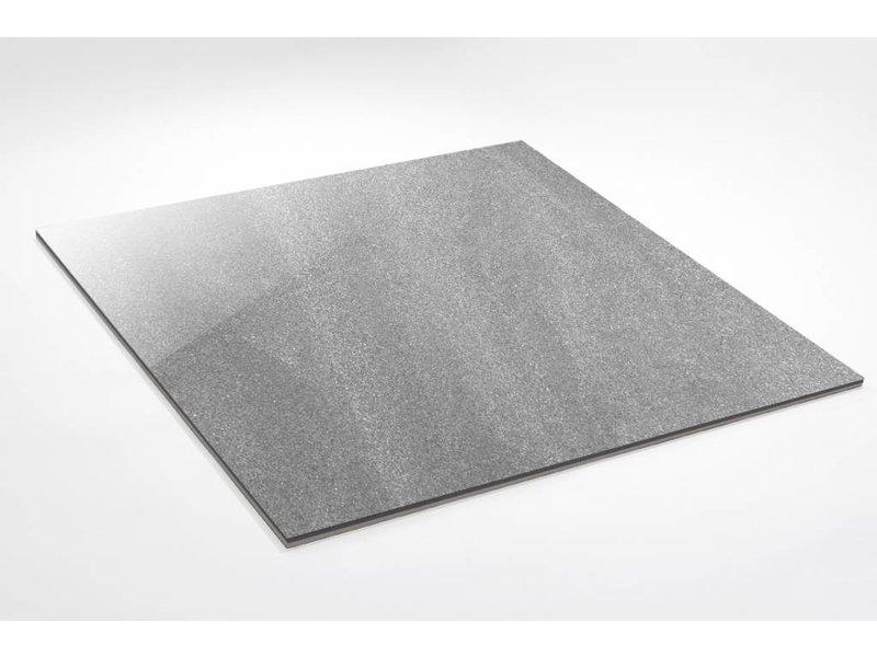 Feinsteinzeug Double Loading- Chroma grau poliert - 60x60 cm