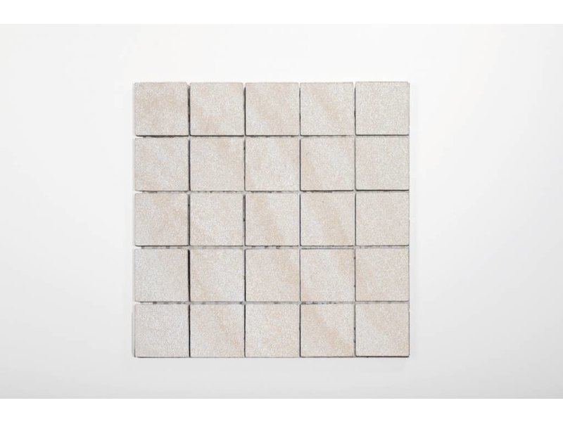 Feinsteinzeug Mosaik poliert - Chroma elfenbein - 30x30 cm