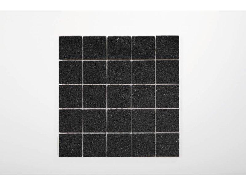 Feinsteinzeug Mosaik - Chroma anthrazit matt - 30x30 cm