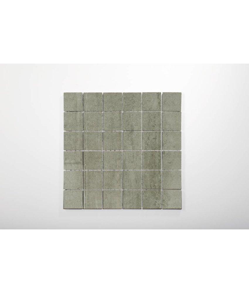 Feinsteinzeug Mosaik - RUBIC dunkelgrau - 5x5 cm