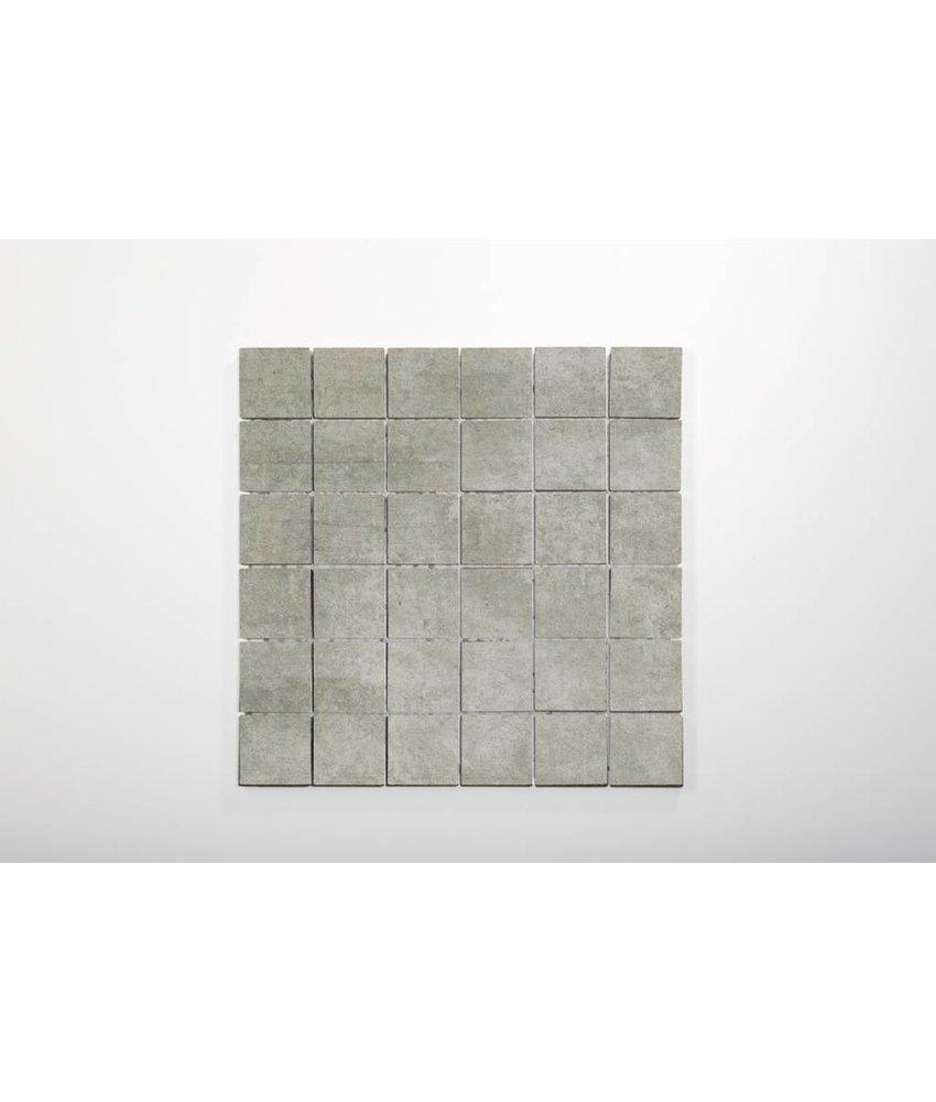 Feinsteinzeug Mosaik - RUBIC grau - 5x5 cm