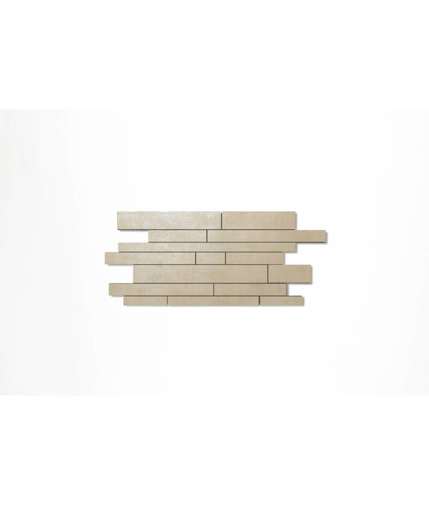 Feinsteinzeug Mosaik - COSMIC weiß Mauerverband - 29,8x71,9 cm