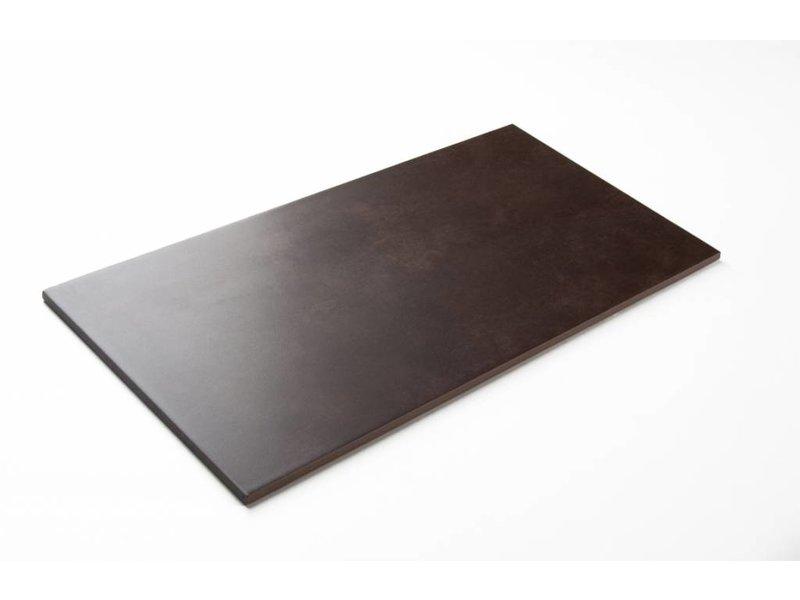 Feinsteinzeug glasiert nicht rektifiziert - PRAG mocca - 60x60 cm