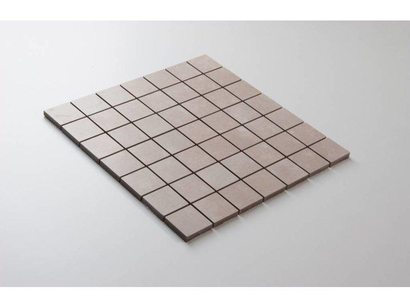 Feinsteinzeug Mosaik - PRAG beige - 5x5 cm
