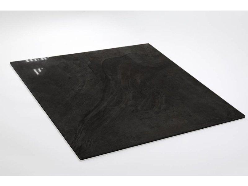 Feinsteinzeug glasiert und poliert - LEA Grafito - 60x60 cm
