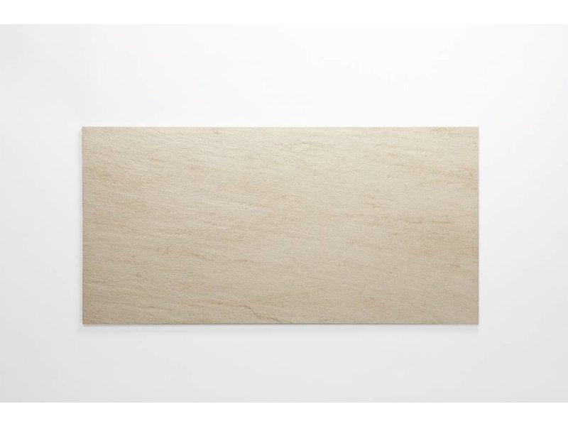 Feinsteinzeug unglasiert - QUARZIT elfenbein - 30x60 cm