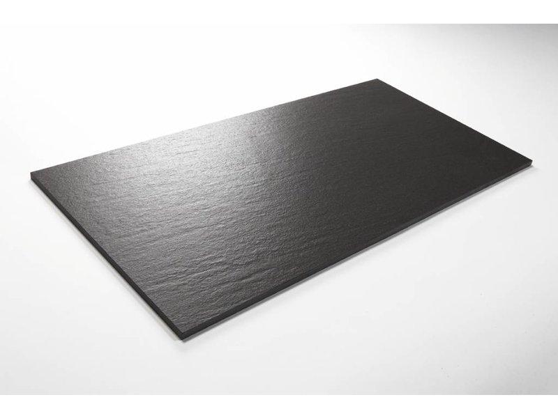Feinsteinzeug unglasiert - QUARZIT anthrazit - 30x60 cm