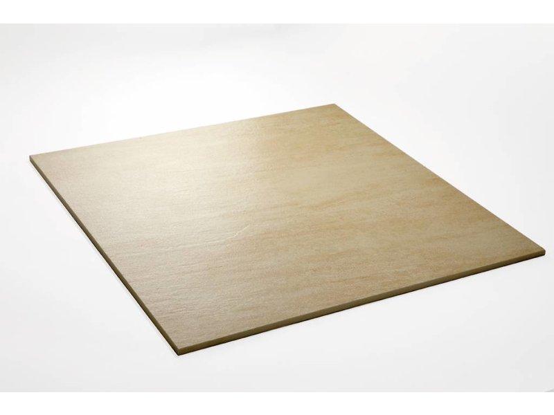 Feinsteinzeug unglasiert - QUARZIT beige - 60x60 cm