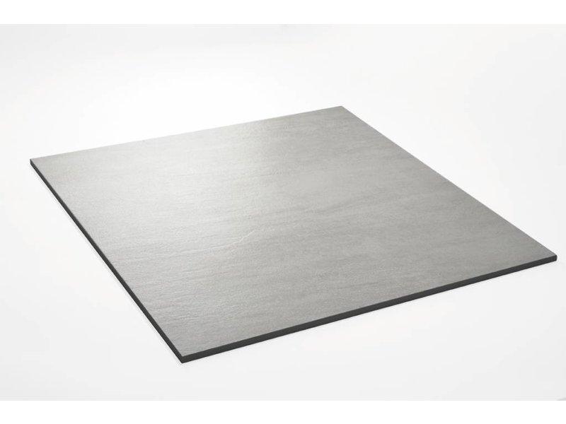 Feinsteinzeug unglasiert - QUARZIT hellgrau - 60x60 cm