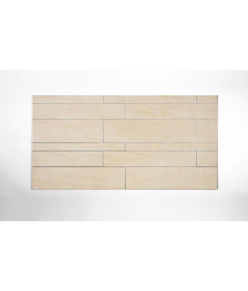 Feinsteinzeug Mosaik - QUARZIT beige (BS2) - 31,5x48,5 cm