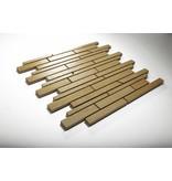 Feinsteinzeug Mosaik - QUARZIT beige schräg geschn. - 30x30 cm