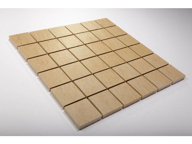 Feinsteinzeug Mosaik - QUARZIT beige 5x5 - 30x30 cm