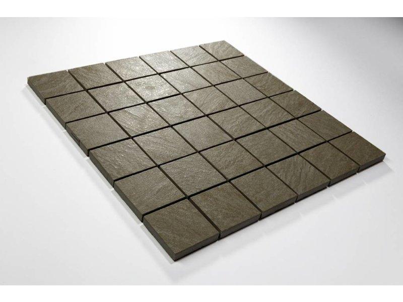 Feinsteinzeug Mosaik - QUARZIT hellgrau 5x5 - 30x30 cm
