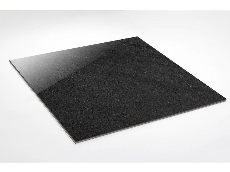 Feinsteinzeug Double Loading - Chroma anthrazit poliert - 60x60 cm