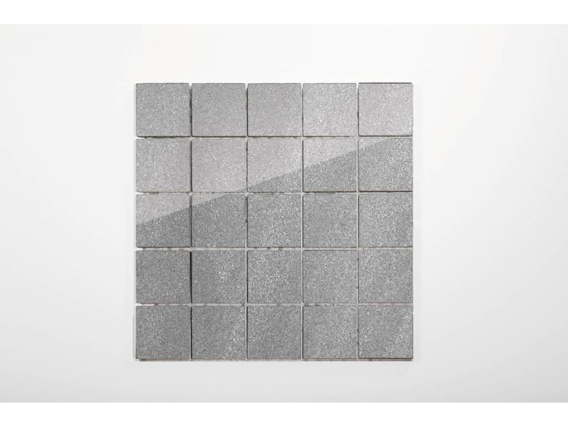 Feinsteinzeug Mosaik poliert - Chroma grau - 30x30 cm