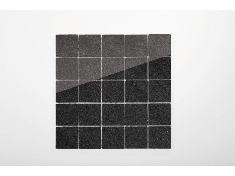 Feinsteinzeug Mosaik poliert - Chroma anthrazit - 30x30 cm