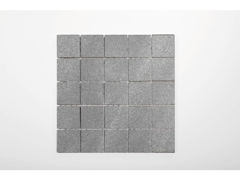 Feinsteinzeug Mosaik - Chroma grau matt - 30x30 cm