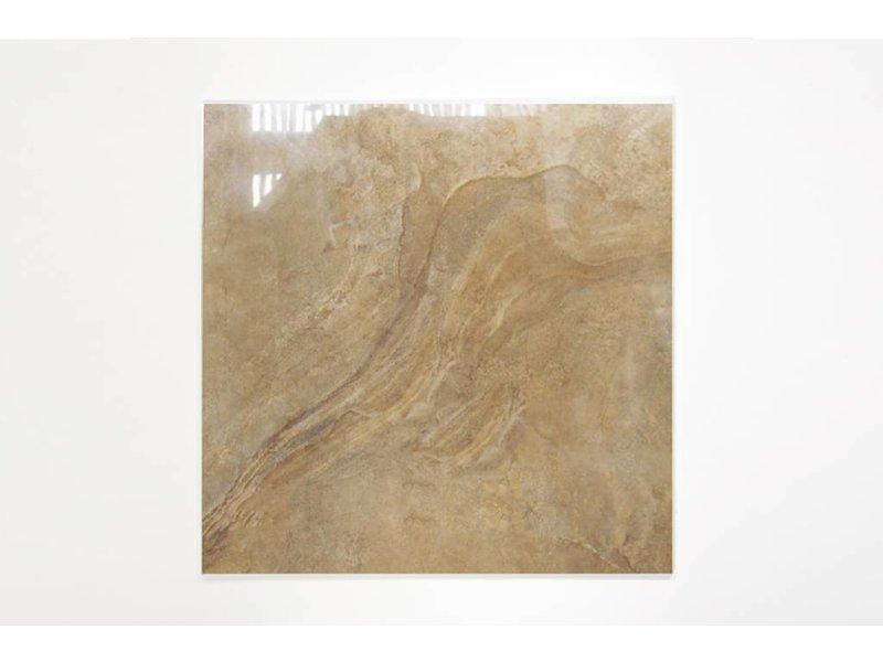 Feinsteinzeug glasiert und poliert - LEA Gold - 60x60 cm