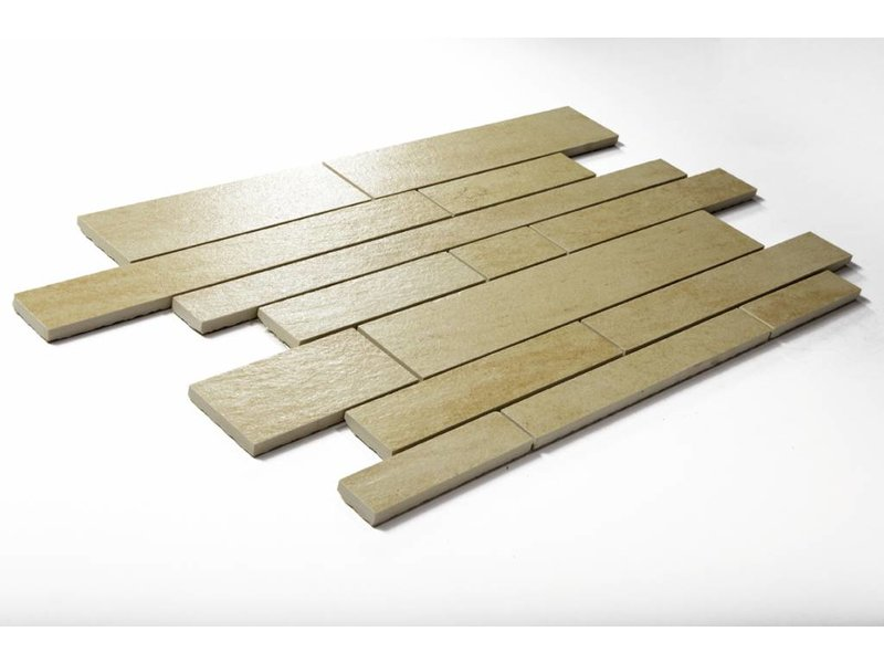 Feinsteinzeug Mosaik - QUARZIT elfenbein (BS2) - 31,5x48,5 cm