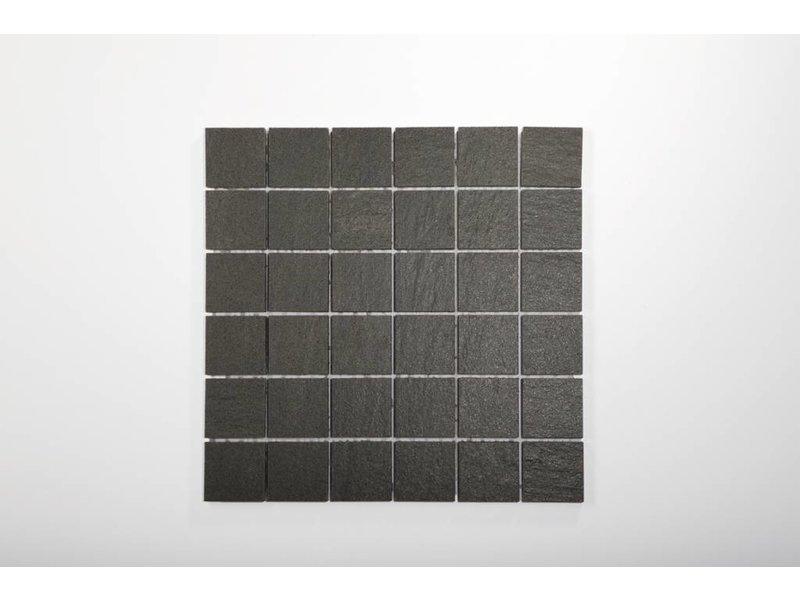 Feinsteinzeug Mosaik - QUARZIT anthrazit 5x5 - 30x30 cm