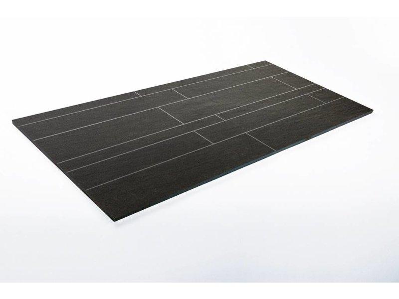 Feinsteinzeug unglasiert Format Mix - QUARZIT anthrazit - 4,8+9,8+14,8x60 cm