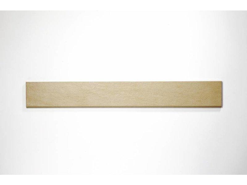 Feinsteinzeug Sockel - QUARZIT beige - 8x60 cm