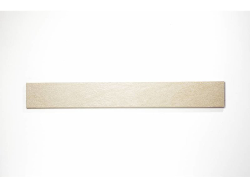 Feinsteinzeug Sockel - QUARZIT elfenbein - 8x60 cm