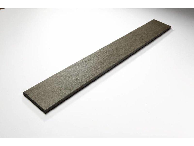 Feinsteinzeug Sockel - QUARZIT hellgrau - 8x60 cm