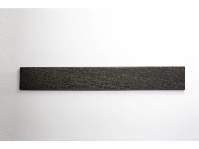 Feinsteinzeug Sockel - QUARZIT anthrazit - 8x60 cm