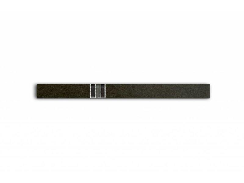 Bordüre mit Glas/ Metall Mix - PICCADILLY schwarz - 4,8x60 cm