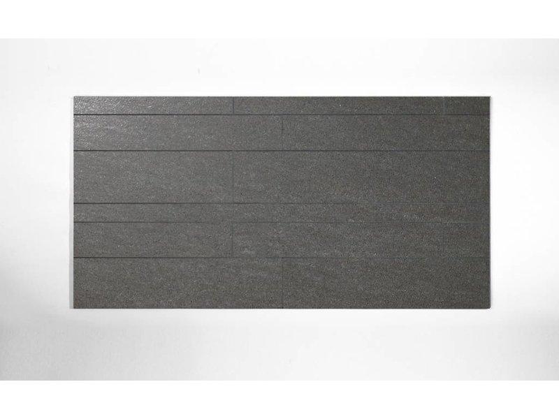 Feinsteinzeug unglasiert Format Mix - PICCADILLY dunkelgrau- 4,8+9,8+14,8x60 cm