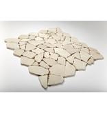 Naturstein-Bruchmosaik – Biancone - 30,5x30,5 cm