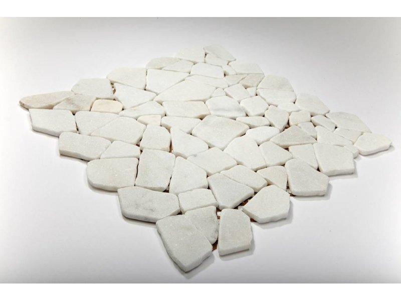Naturstein-Bruchmosaik - Bianco Carrara - 30,5x30,5 cm