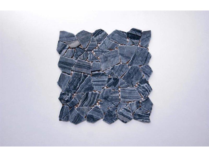 Naturstein-Bruchmosaik - STONE schwarz - 30,5x30,5 cm