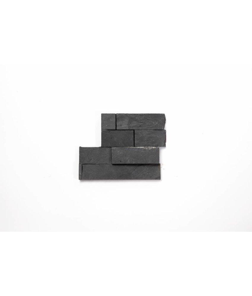 Brickstones Ecken - Schiefer nero (1,5-2,5 cm) - 15x40+15x15 cm