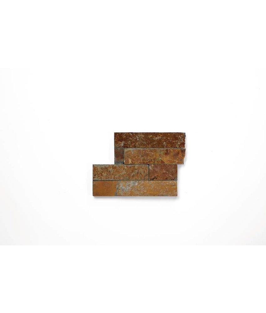Brickstones Ecken - Schiefer multicolour (1,5-2,5 cm) - 15x40+15x15 cm