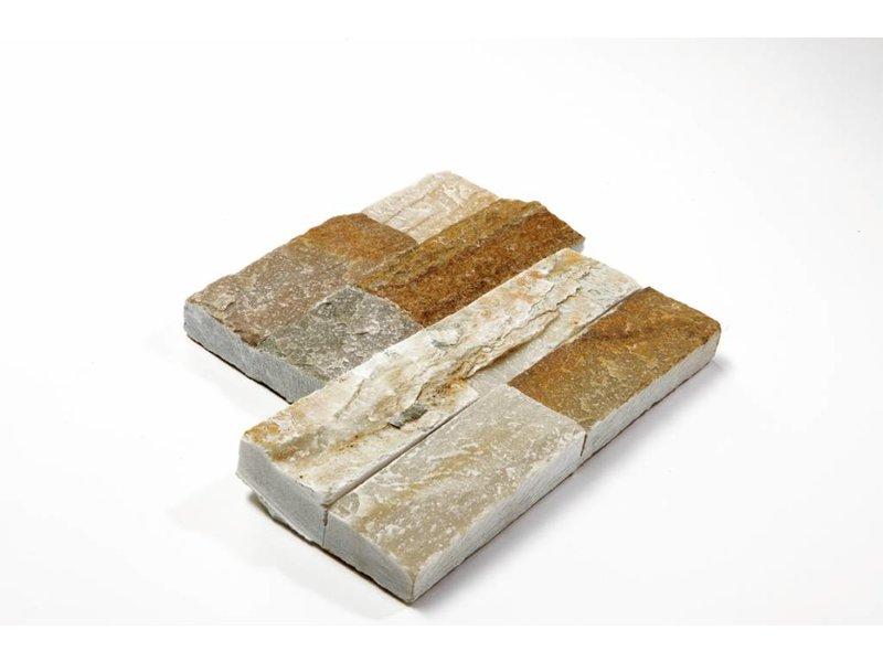 Brickstones Ecken - Schiefer beige (1,5-2,5 cm) - 15x40+15x15 cm