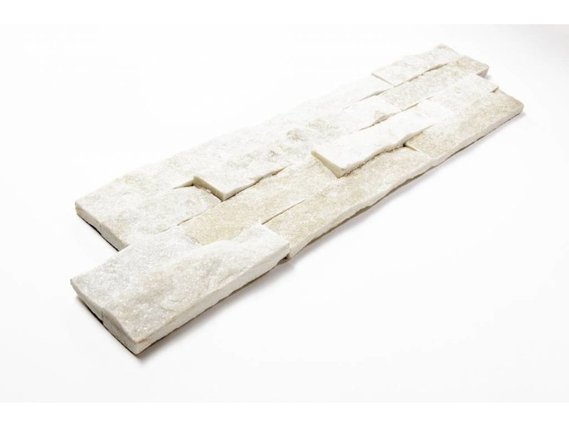 Brickstones - Quarzit weiß (2-3 cm) - 15x55 cm