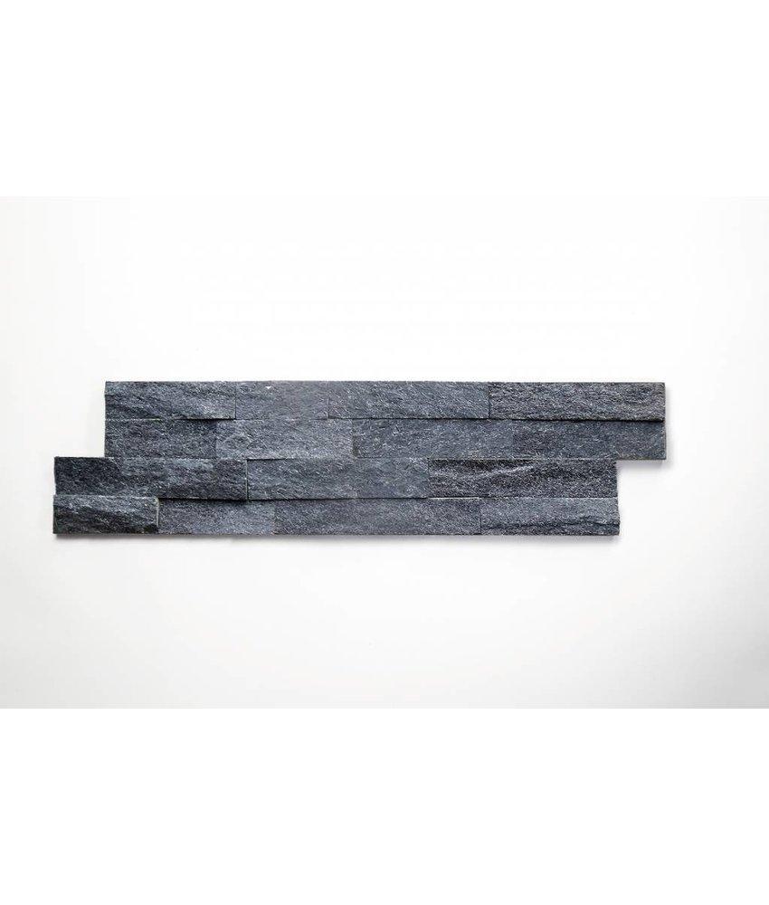 Brickstones - Quarzit schwarz (2-3 cm) - 15x55 cm