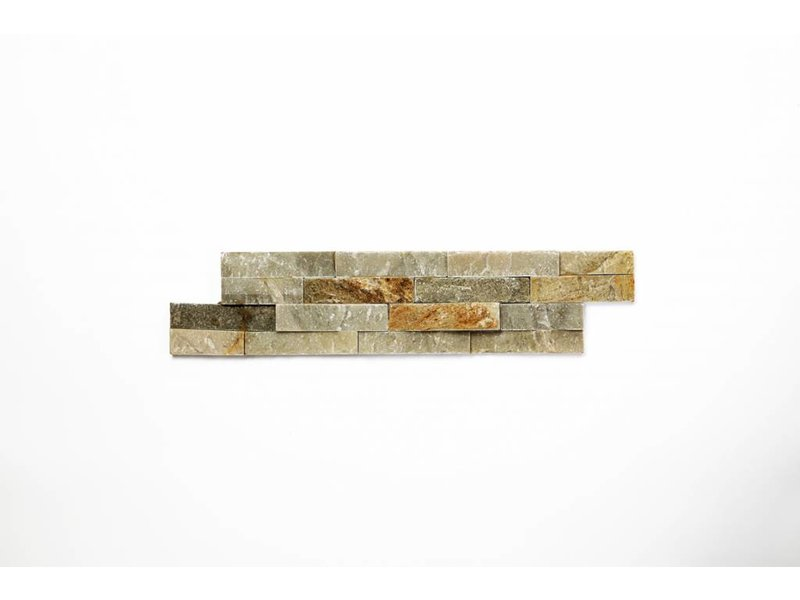 Brickstones - Schiefer Accapulco beige/ grau (0,7-1 cm) - 10x40 cm