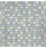 BÄRWOLF BÄRWOLF Kombimosaik Tuscany Laguna Blue GL-17005 - 29,8 cm x 29,8 cm