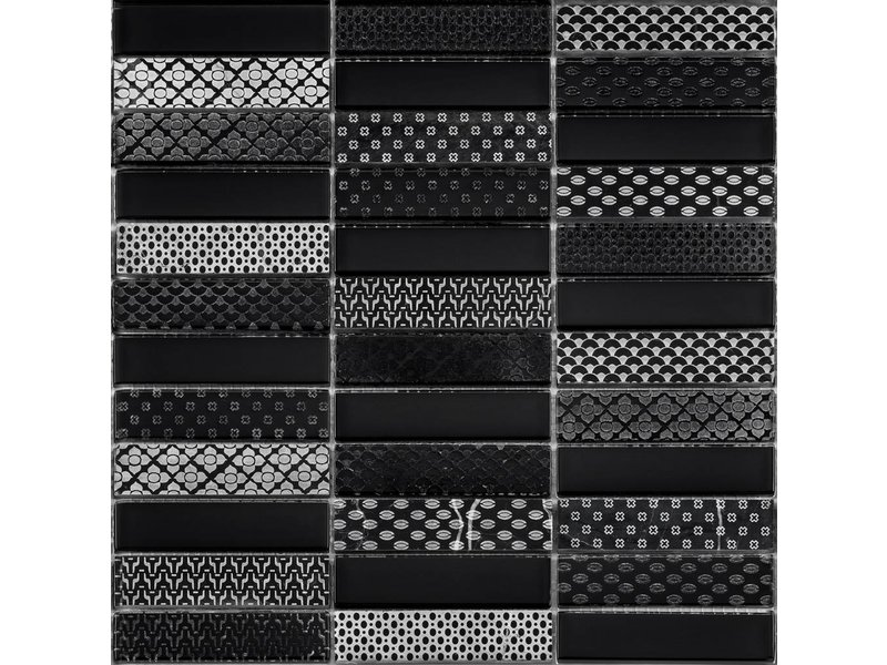 BÄRWOLF BÄRWOLF Kombimosaik Laura Black GL-17001 - 29,8 cm x 29,8 cm