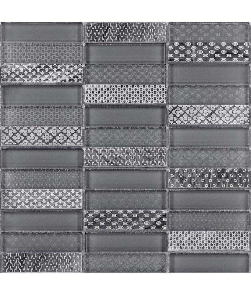 BÄRWOLF Kombimosaik Laura Grey GL-17003 - 29,8 cm x 29,8 cm